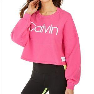 Calvin Crop sweatshirt sz M